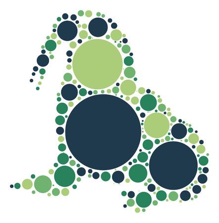 walrus shape design by color point Illustration