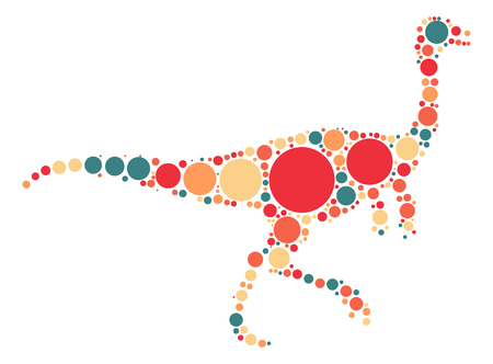 dinosaur shape design by color point