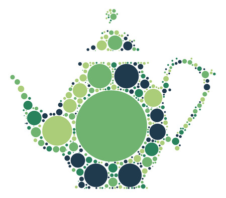 tea pot shape design by color point