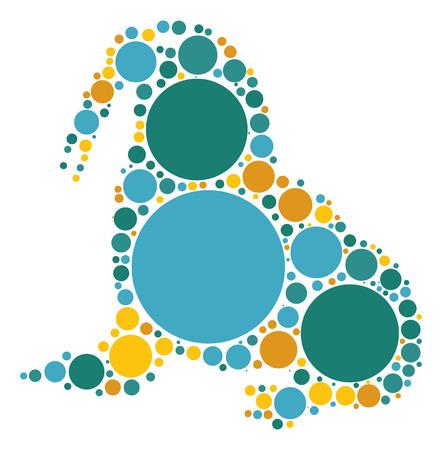 walrus: walrus shape design by color point Illustration