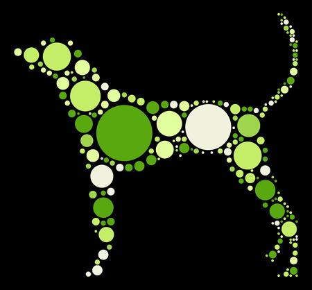 dog shape design by color point