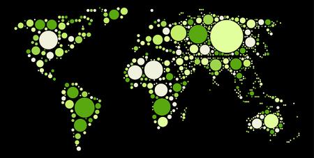 topografia: mundo del diseño del mapa de colores por punto
