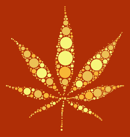 weeds: Hashish shape design by color point