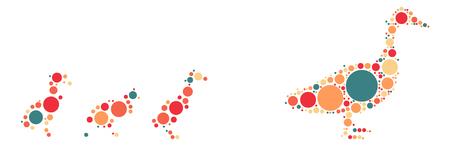 rubber ducks: duck shape design by color point