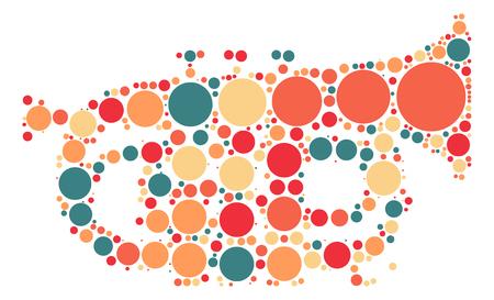 trumpet shape design by color point Illustration