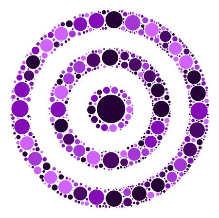gun holes: target practice shape design by color point Illustration