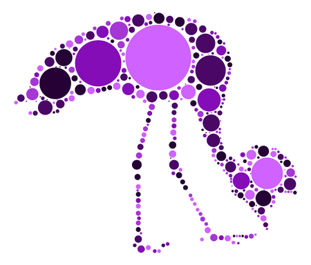 crane shape design by color point