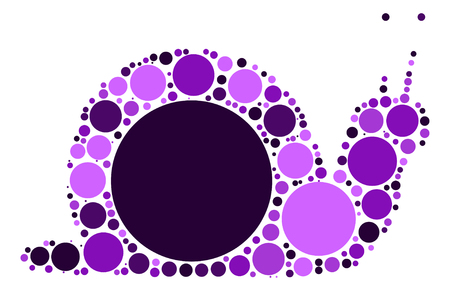 crawling animal: snails shape design by color point Illustration