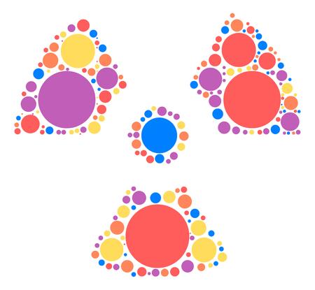 radiation shape design by color point Illustration