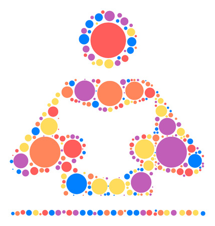 reading shape design by color point Illustration