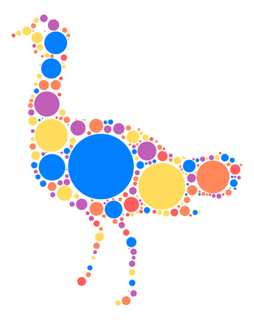 flightless: Emu shape design by color point