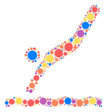 diving board: diving shape design by color point Illustration