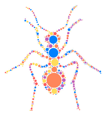 ant shape design by color point
