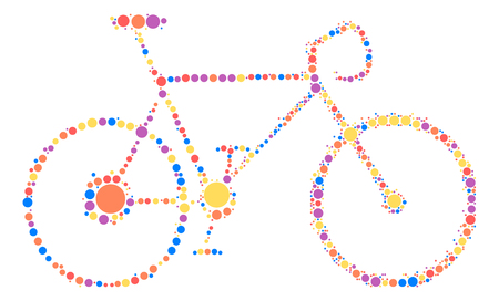 bicycle shape design by color point Illustration