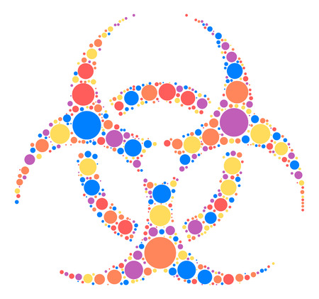 Biochemical icon shape design by color point Illustration