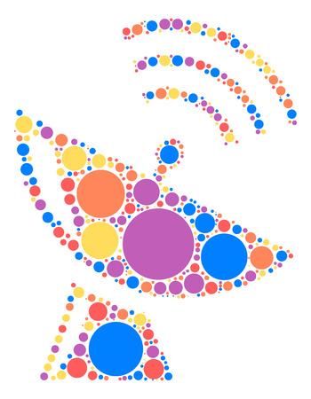 radar: Satellite radar shape design by color point