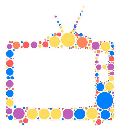 tv shape design by color point