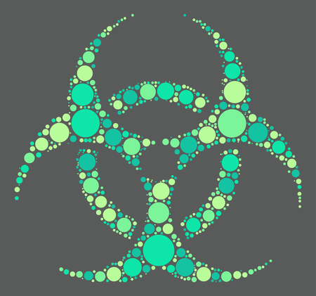 biological hazard: Biochemical icon shape design by color point Illustration