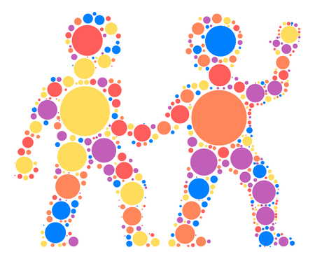 Gemini shape design by color point