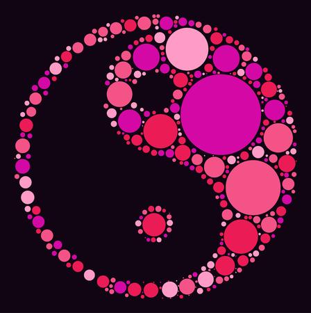tai conception de forme de chi par point de couleur