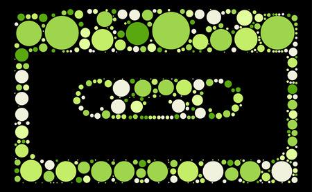 magnetic: Magnetic tape shape design by color point Illustration