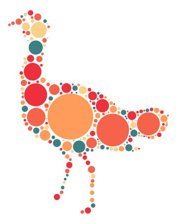 emu: Emu diseño de la forma de punto de color