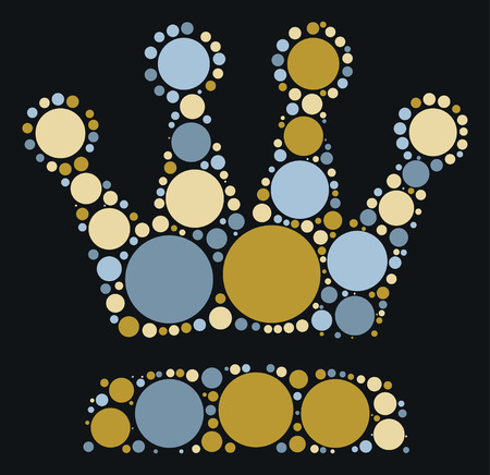 imperial: Imperial crown shape design by color point
