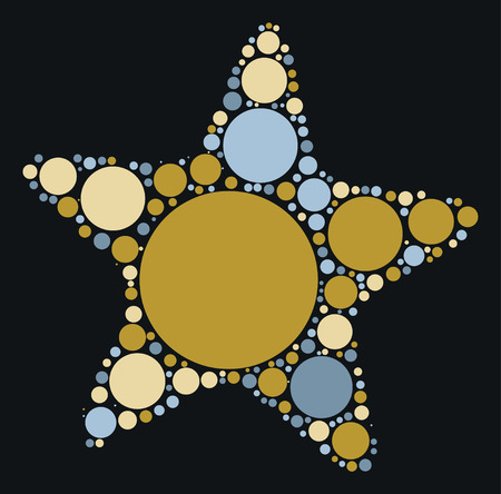 star fish: starfish shape design by color point