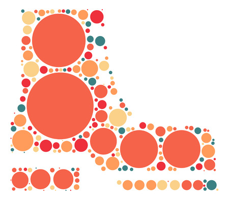 boots shape design by color point Illustration