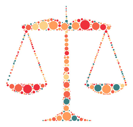 Balance shape design by color point