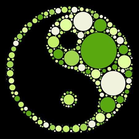 tai chi: tai chi shape design by color point
