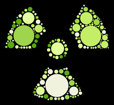 irradiation: radiation shape design by color point Illustration