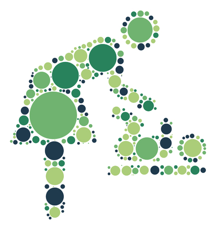 Nursing Room shape vector design by color point