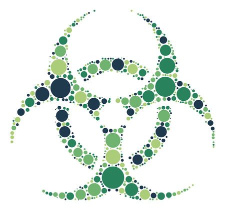 biological hazard: Biochemical icon shape vector design by color point