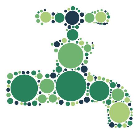 Faucet shape vector design by color point