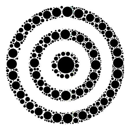 gun holes: target practice shape vector design by color point Illustration