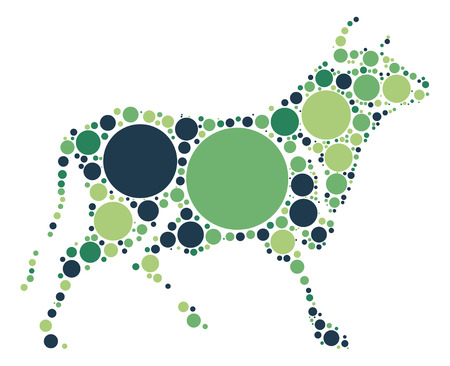 cattle: Cattle shape vector design by color point