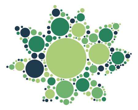 flower shape vector design by color point Illustration