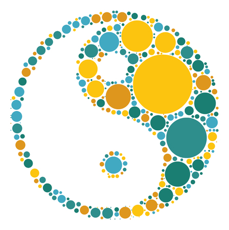 tai chi shape vector design by color point