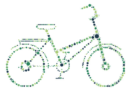 pedaling: bicycle shape vector design by color point Illustration