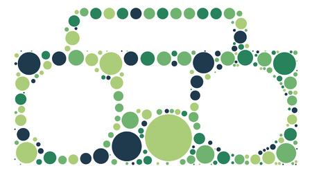 grabadora: grabadora de forma del dise�o del vector de punto de color