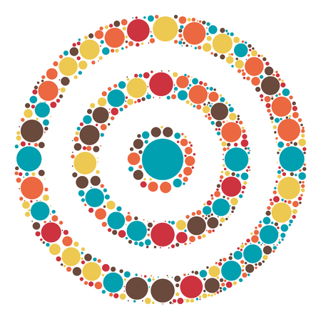 target practice: target practice shape vector design by color point Illustration