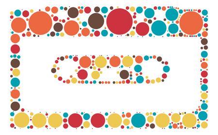 magnetic: Magnetic tape shape vector design by color point Illustration