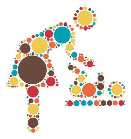 nursing bottle: Nursing Room shape vector design by color point