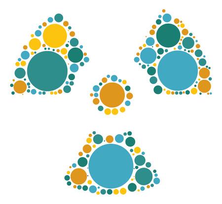 forma de radiación de diseño vectorial de punto de color