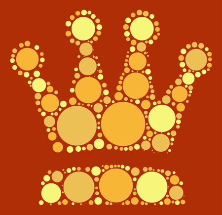 Imperial crown shape design by color point