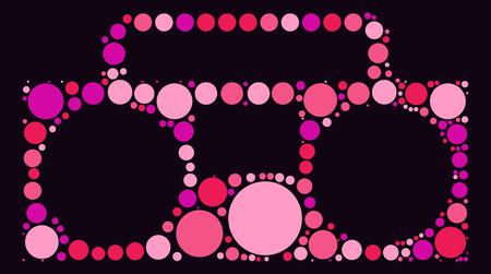 grabadora: diseño grabador forma de punto de color