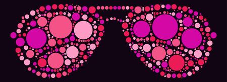 sunglasses shape design by color point Illustration