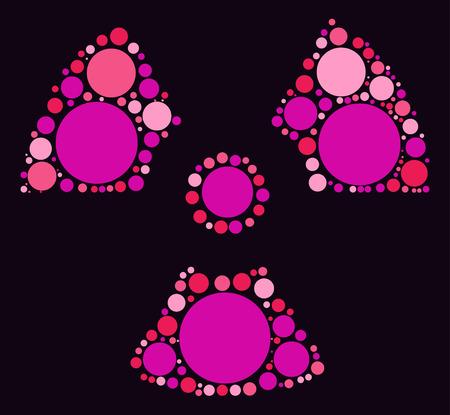 irradiation: radiation shape design by color point Illustration