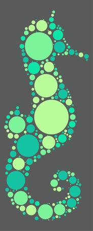 hippocampus: Hippocampus shape  design by color point